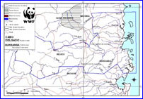 Quirimbas National Park - Map from WWF EARPO
